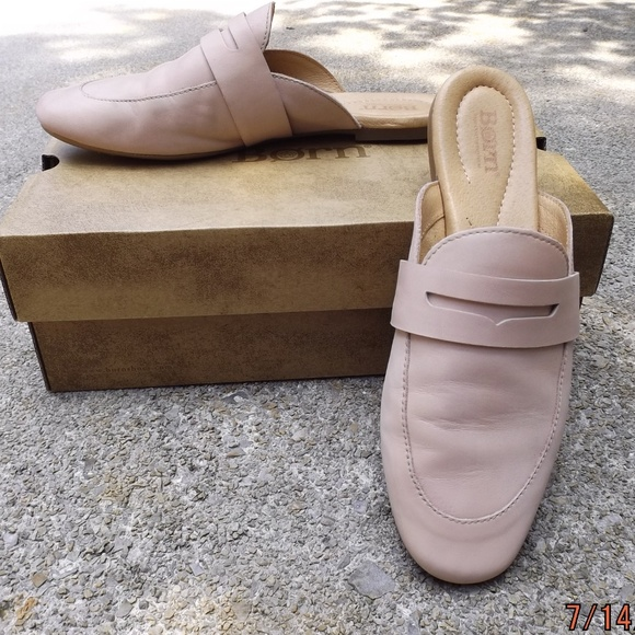 89ac198c188 Born Shoes - Born Leather Cayo Loafer Mule- Soft Pink Sz. 8